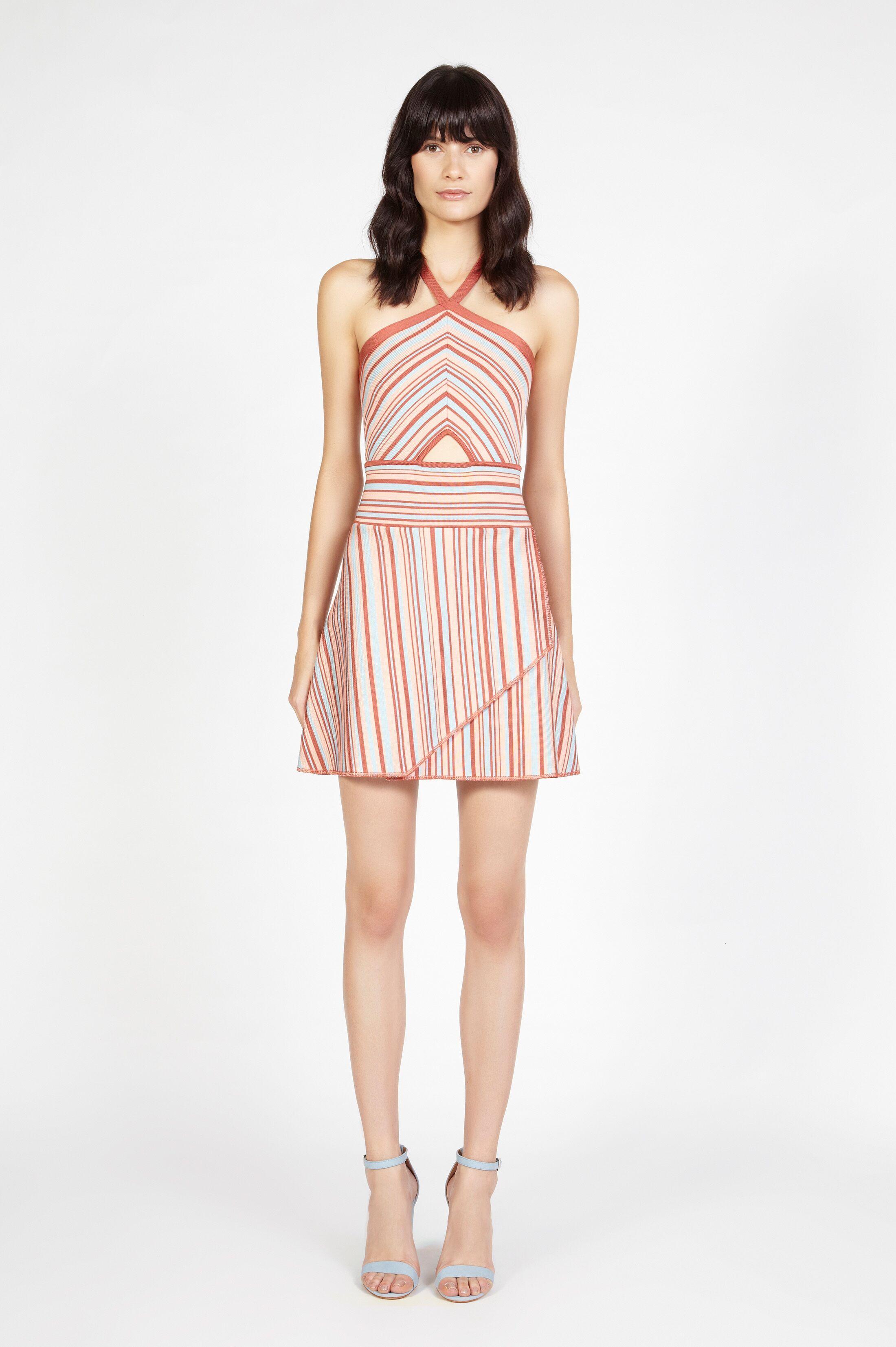A line herve leger short stripe dresses herve leger in