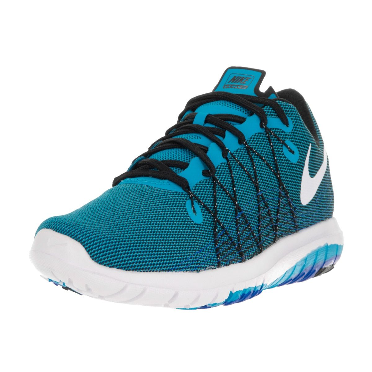 46e340f58b8 Nike Men s Flex Fury 2 Blue Glow White Black Rcr Blue Running Shoe ...