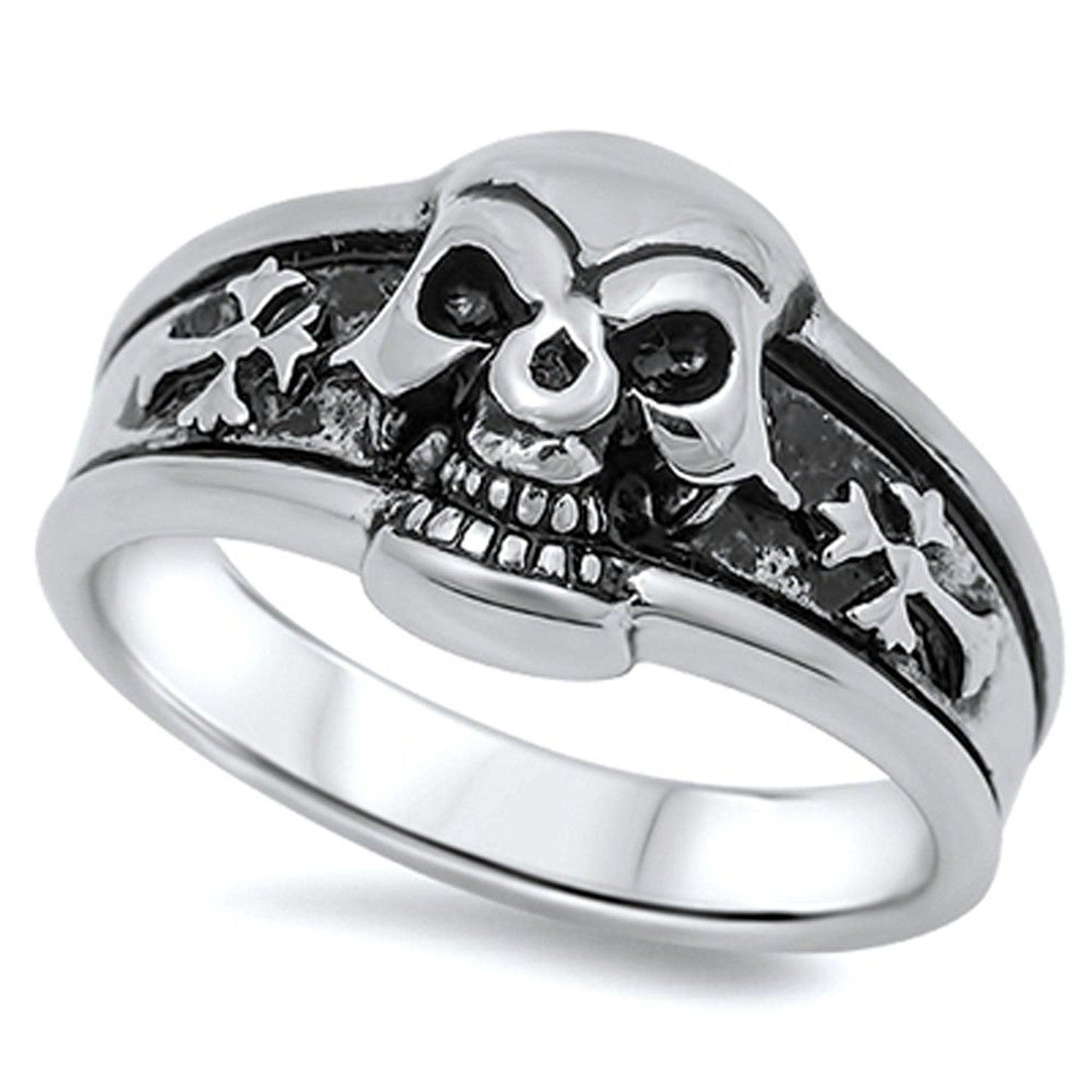 STR0348 Stainless Steel Skull Ring >>> To view further