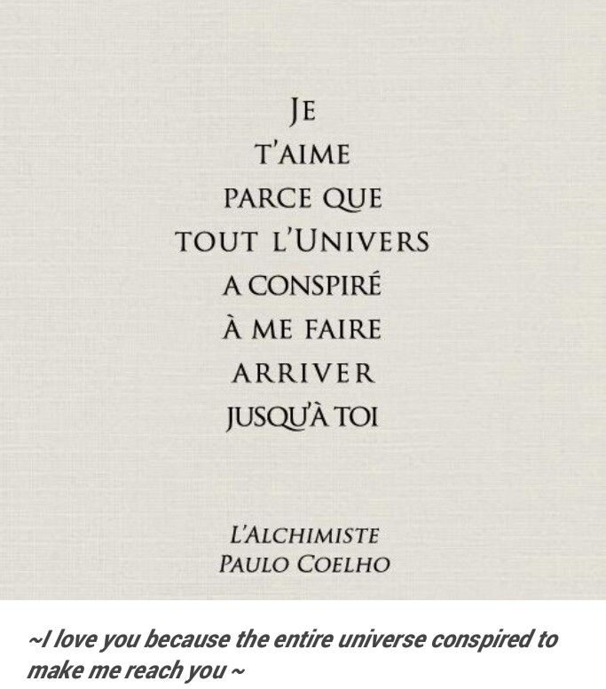 French Love Quotes The Universe Conspired Tattoos  Pinterest  Universe And Poem
