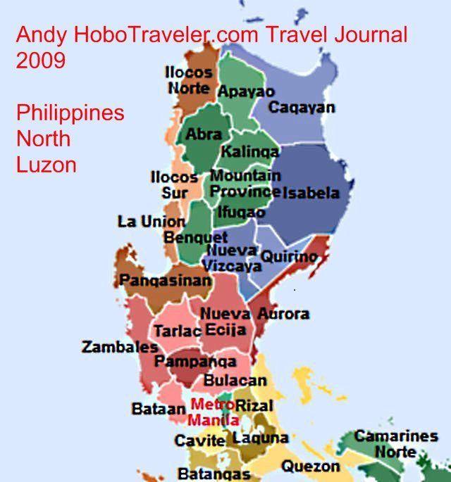 North Philippines Map Pinterest
