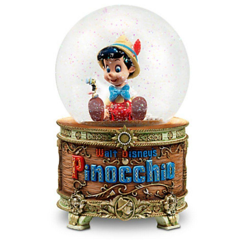 Disney Pinocchio And Jiminy Cricket Snowglobe Snow Globes Musical Snow Globes Disney Snowglobes