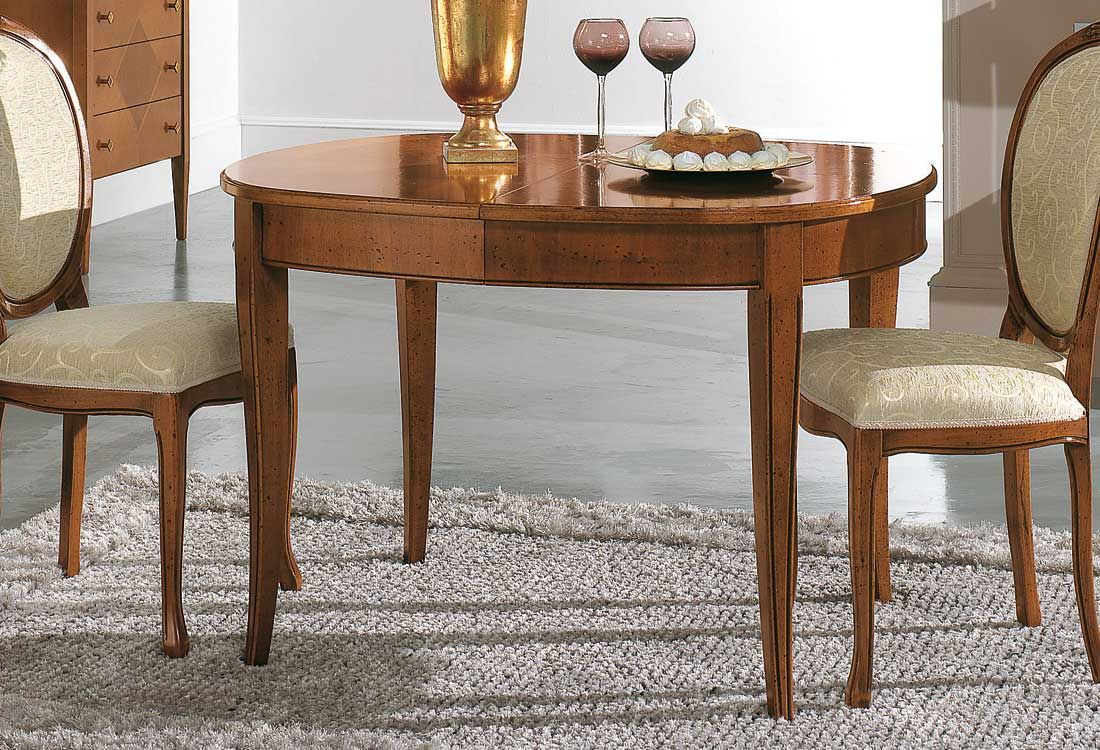 Tavolo consolle in ciliegio con allunghe salva spazio art for Tavolo consolle con sedie