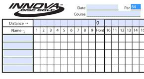 image regarding Disc Golf Scorecard Printable identified as Down load a Template for Scorecards versus Innova. Disc Golfing