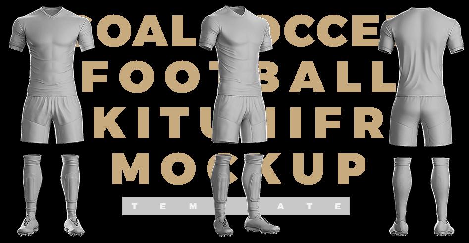 Goal Soccer Kit Template Sports Templates Soccer Kits Soccer Soccer Uniforms Design