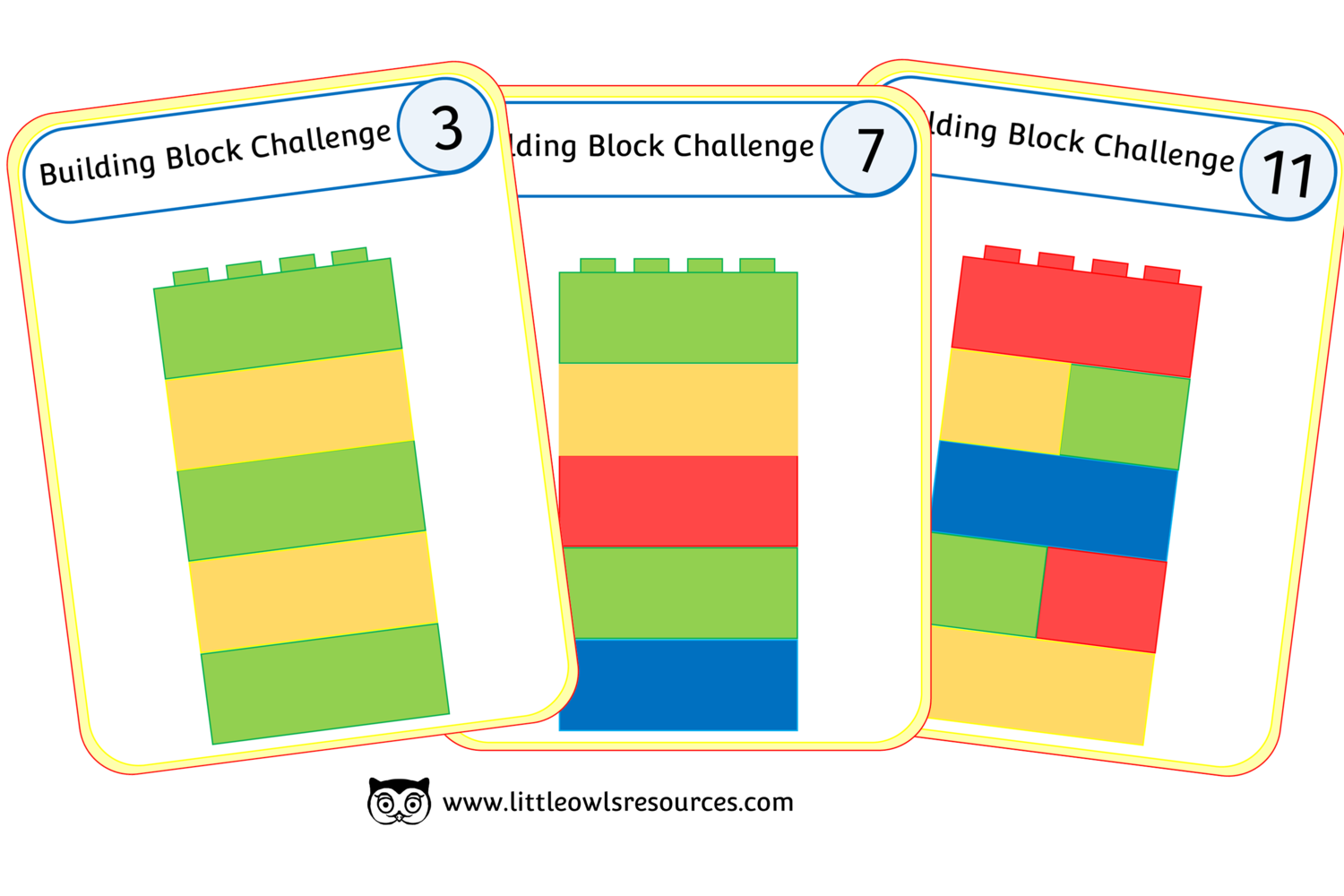 Free Building Block Challenge Printable Early Years Ey