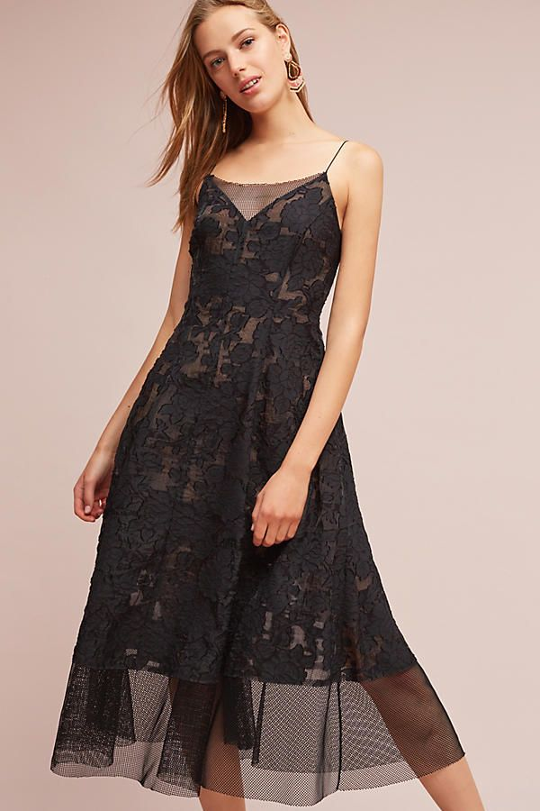 Tracy Reese Mesh Lace Dress