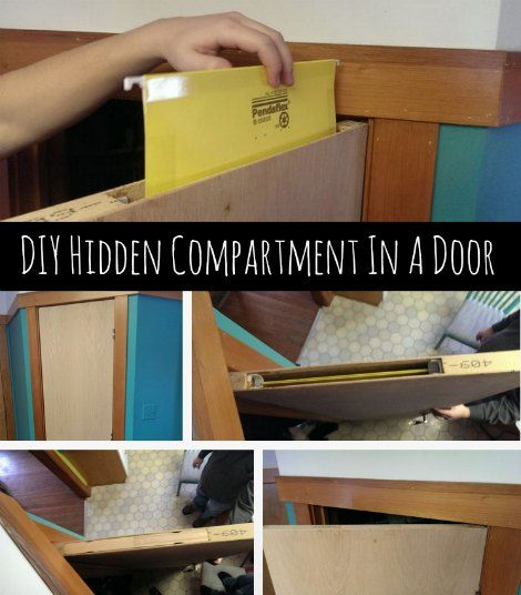 Diy Hidden Compartment In A Door Hidden Compartment