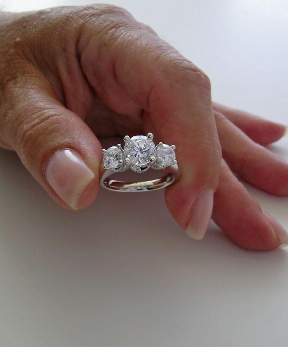 Unique Diamond Anniversary Rings UNIQUE THREE STONE DIAMOND