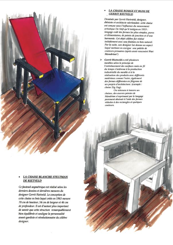Ecole ComArt Arts Appliqués Design Graphique Rough Produits - Formation decorateur interieur avec fauteuil bois design