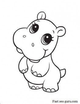 Druckbare Baby Hippo Malvorlagen Baby Druckbare Hippo Malvorlagen Malvorlagen Fur Kinder Malvorlagen Niedliche Tierzeichnungen