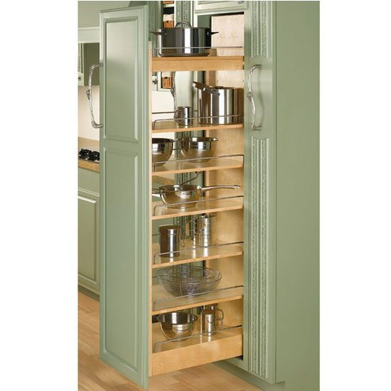 3 Rev A Shelf Tall Wood Pull Out Pantry With Adjule Shelves For Kitchen Cabinet Kitchensource Pinterest Followerfind