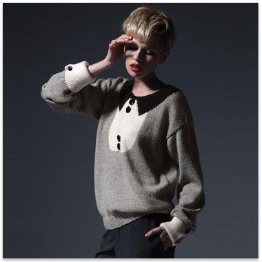 46cf0027e37f Modèles   patrons tricot gratuits   KNIT   Pinterest   Pull chemise ...