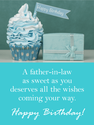 Blue Cupcake Happy Birthday Card For Father In Law Got A Sweet Celebrating This Charming Is The Perfect Pick To