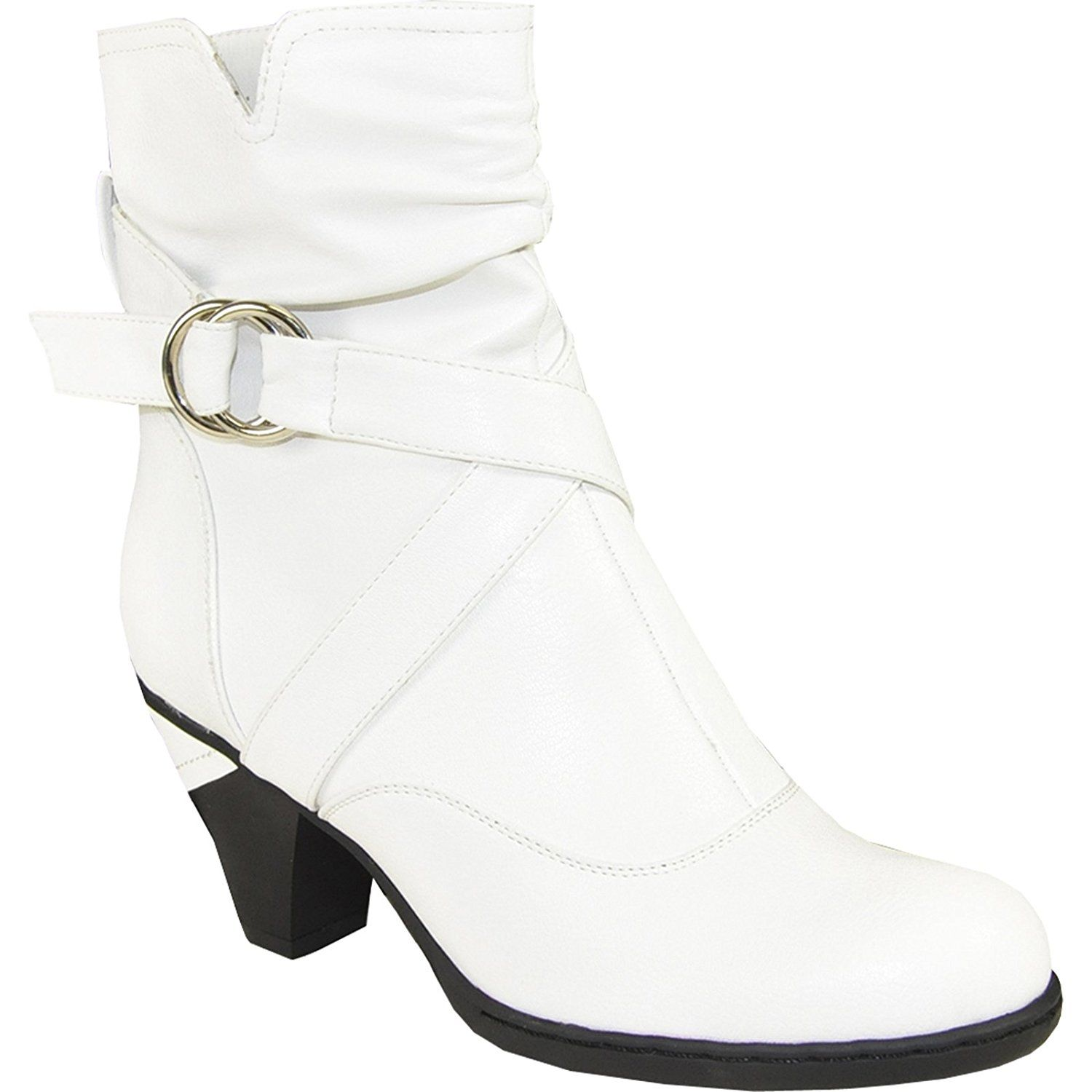 Women's Ankle Boots SD3407 Dress Bootie with Buckle Strap