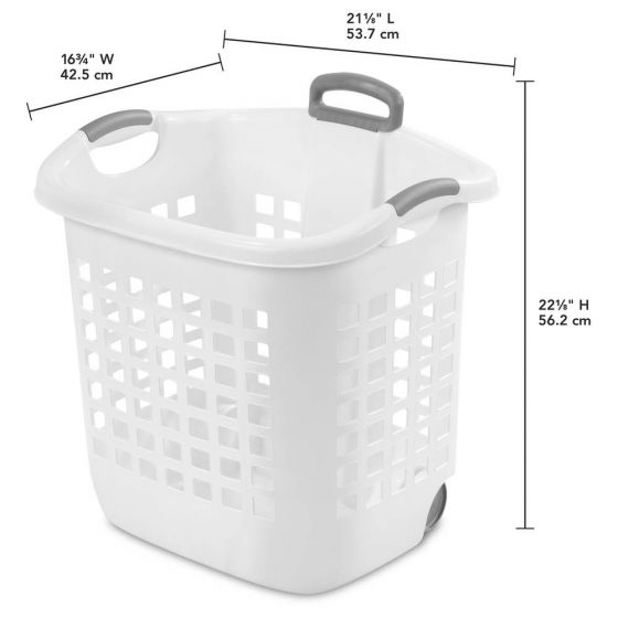 Circo Stackable Wheeled Basket In Blue And Pink At Target