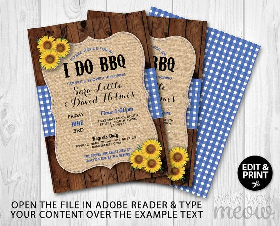I do BBQ Invitations Rustic Engagement Party Coupleu0027s Shower - free engagement party invites