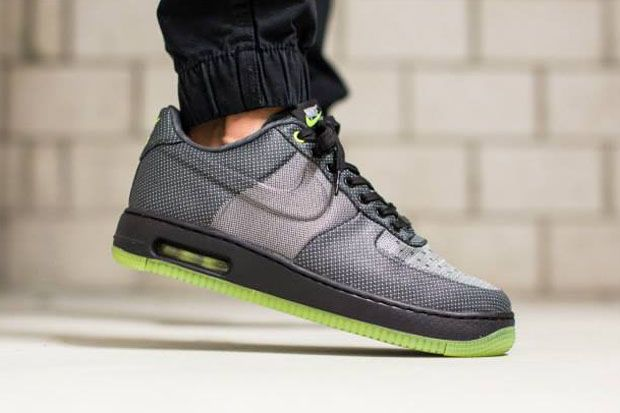 Nike Air Force 1 Anthracite  / Gris Loup  / Tweed Noir