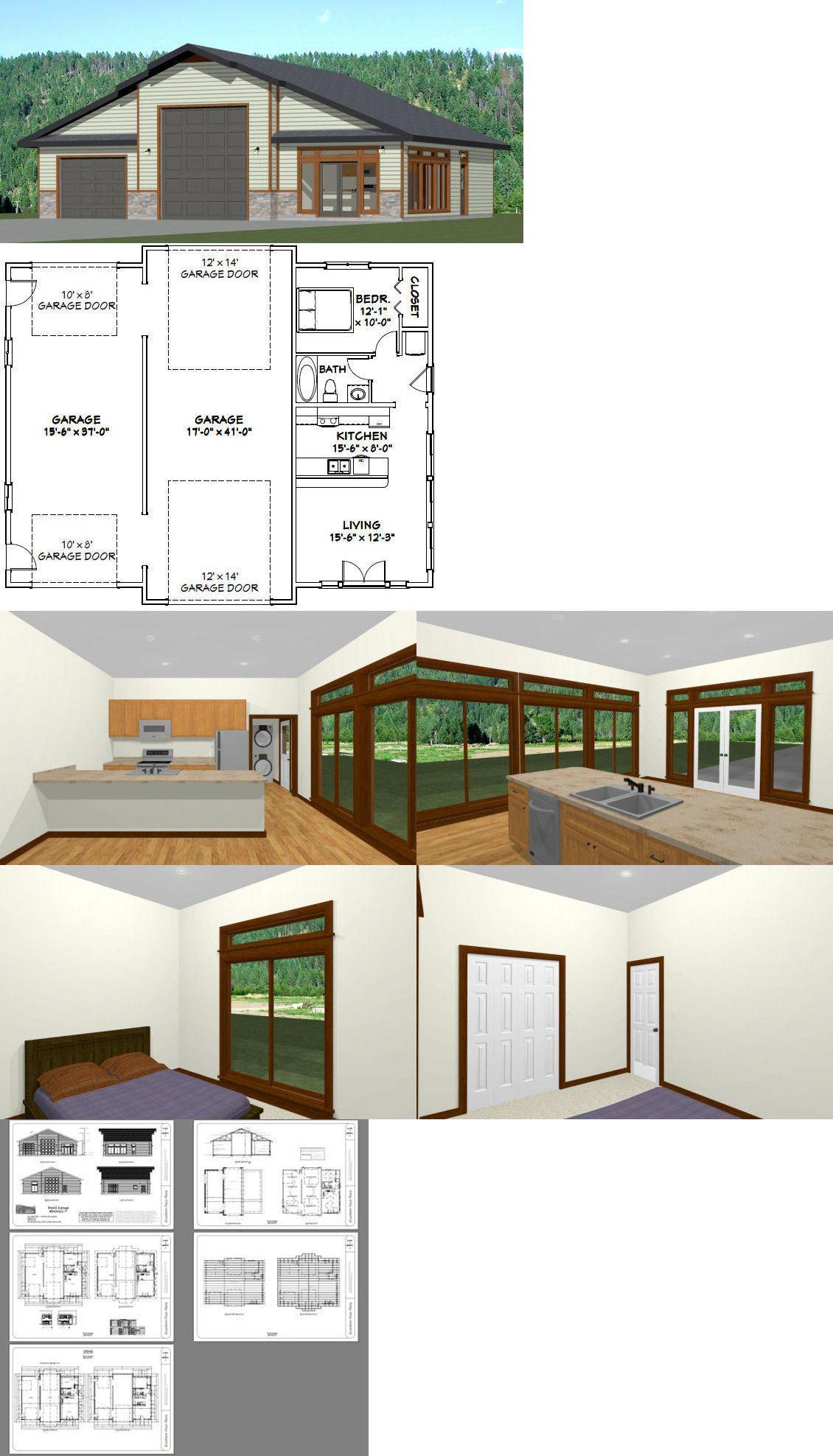 Building Plans And Blueprints 42130 50x42 1 Car 1 Rv Garage 1 Br 1