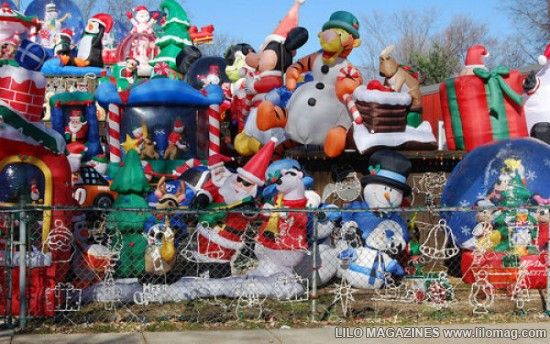 tacky inflatable christmas yard decorations get a load of lots of great christmas decorations