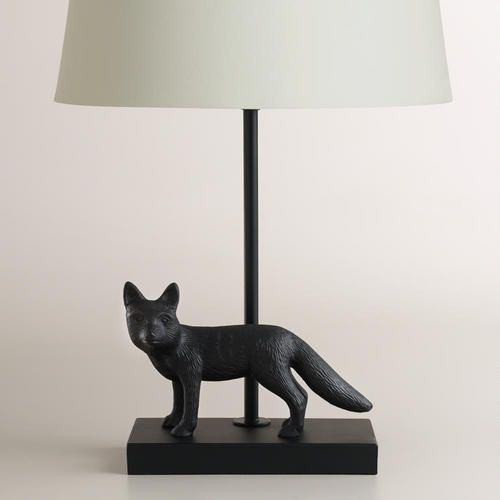 One of my favorite discoveries at WorldMarket.com: Metal Fox Accent Lamp Base