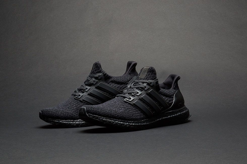 "f6d7daae13e adidas Ultra Boost 3.0 ""Triple Black"" Sneakers - Uk Size 10.5 Rare ..."
