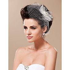 Gorgeous Tulle With Feather Bridal Headpiece - USD $ 19.99