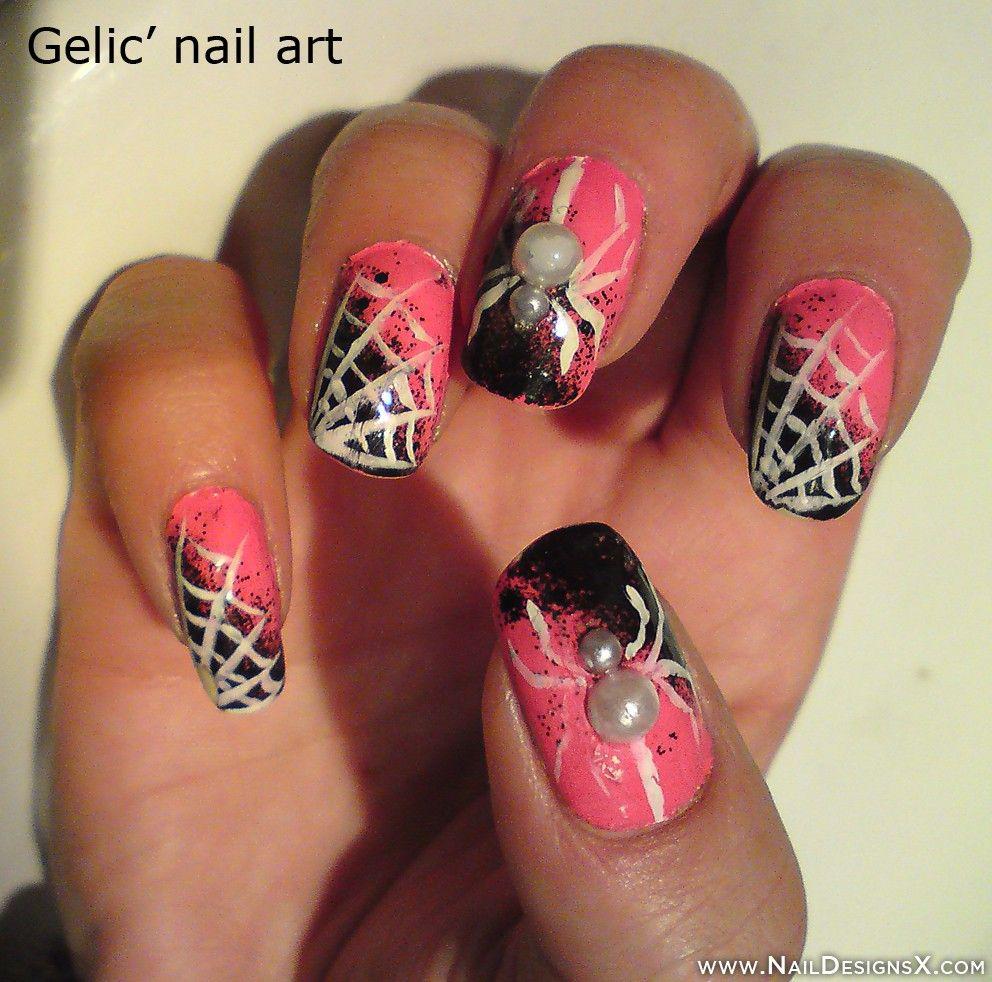 pink halloween nail design » Nail Designs & Nail Art. don't really like - Pink Halloween Nail Design » Nail Designs & Nail Art. Don't Really
