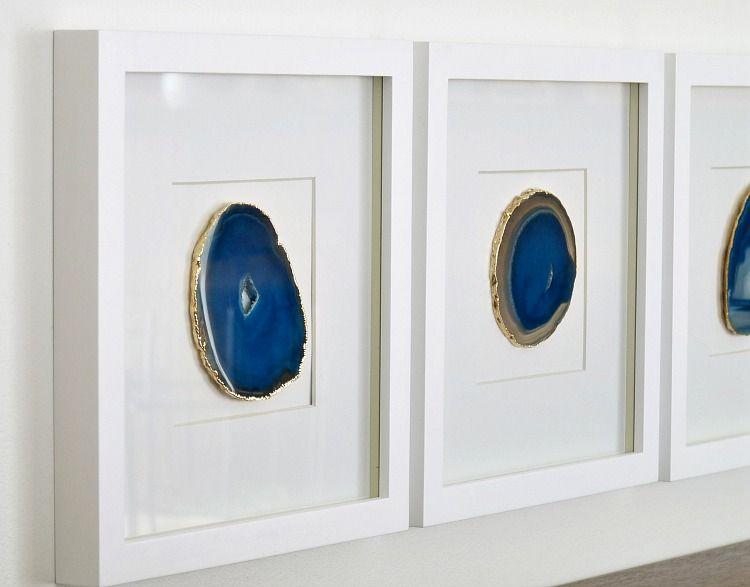 diy agate art framed blue agate slices dans le lakehouse.htm diy agate art framed blue agate slices agate art  pallet art diy  art framed blue agate slices