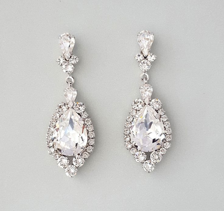 Earrings For A Wedding Accessories Jewelry Bridal Earrings ...
