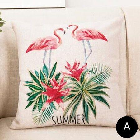 Outdoor Pink Flamingo Pillow Cover Hot