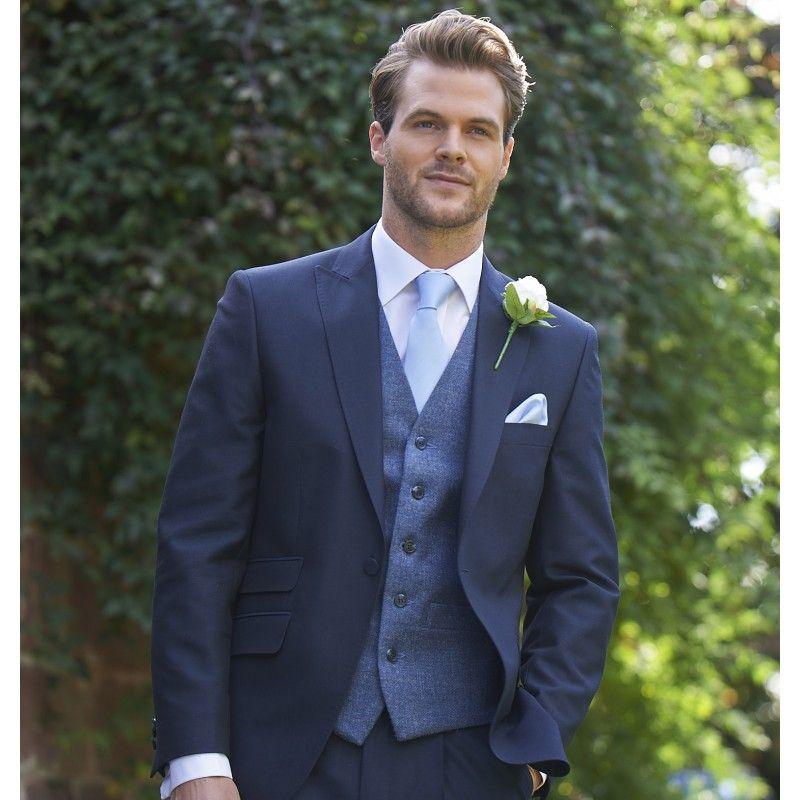 Tweed Blue / Grey Waistcoat (238) | trajes de novios | Pinterest ...