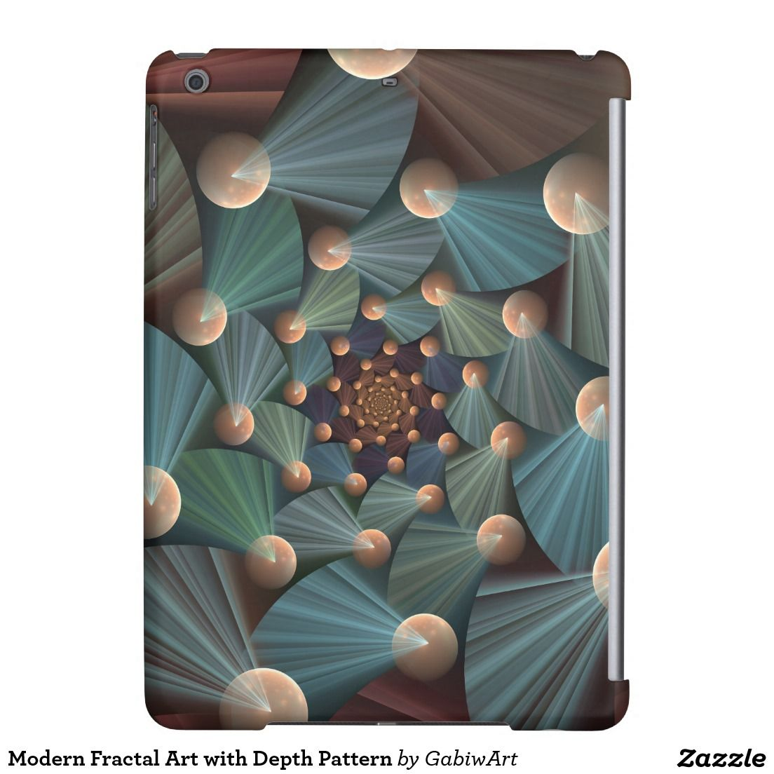 Modern Fractal Art with Depth Pattern iPad Air Covers