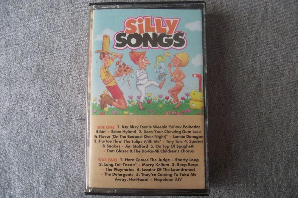 Silly Songs (Various Artists) Cassette Classic Comedy Songs Polkadot Bikini Judg #ComedyNoveltyMusic