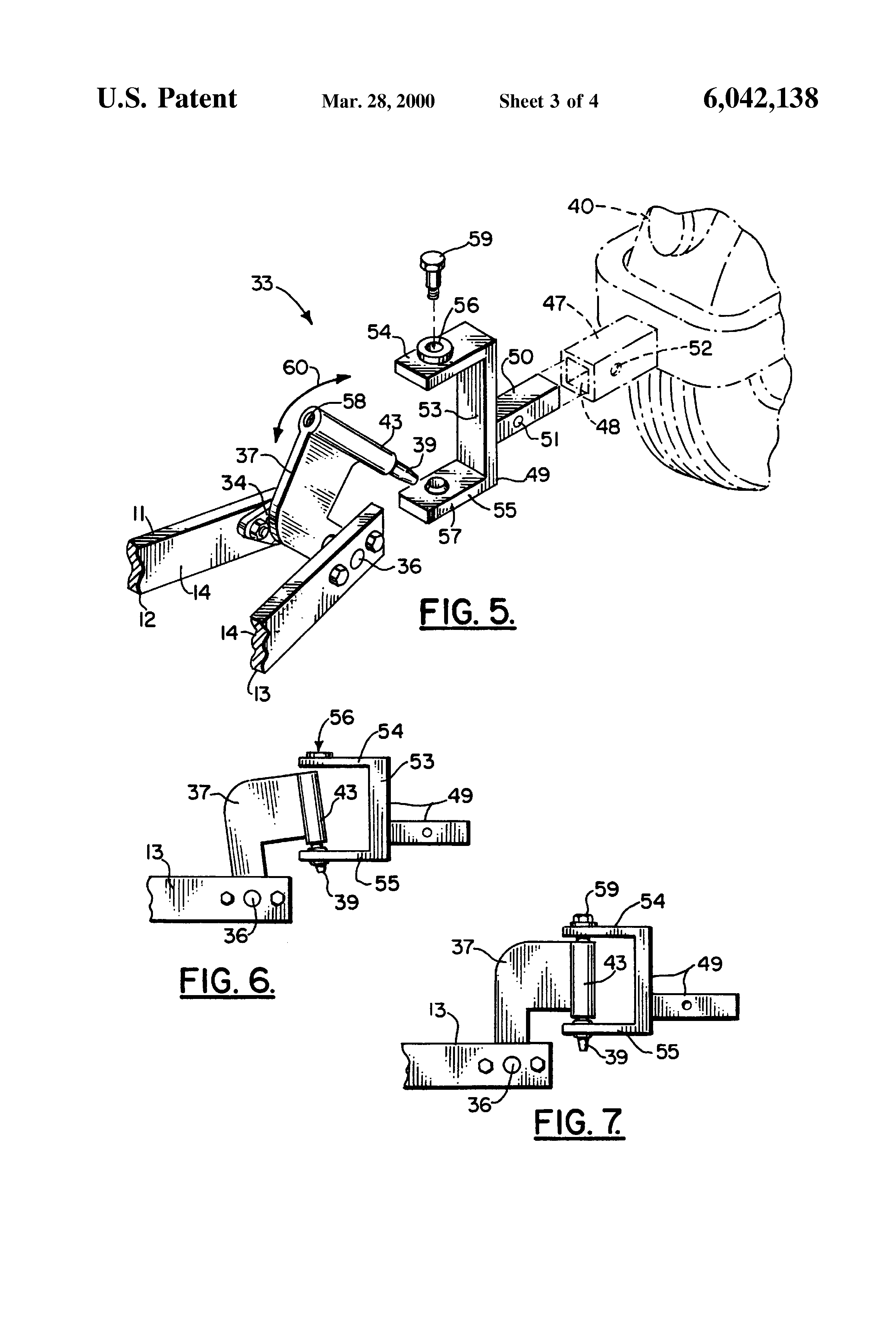 patent us6042138 - motorcycle trailer apparatus