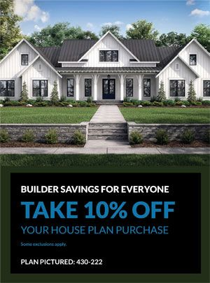 Take 10% off thousands of home plans, from quaint country cottages to luxurious contemporary/modern oases, and everything in between. No code needed. Some exclusions apply. Questions? Call 1-888-447-1946 today. #architect #architecture #buildingdesign #homedesign #residence #homesweethome #dreamhome #newhome #newhouse #foreverhome #interiors #archdaily #modern #farmhouse #house #lifestyle #design