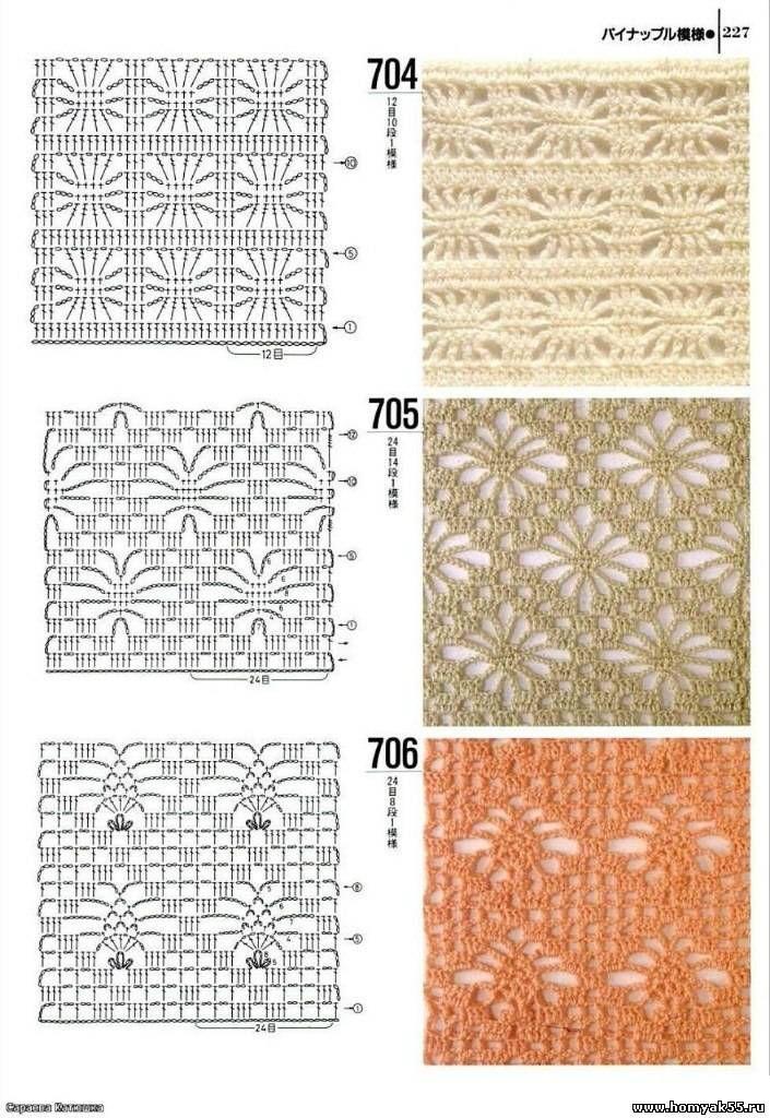 Schéma ou diagramme motif pour crochet   Crochet Stitches ...
