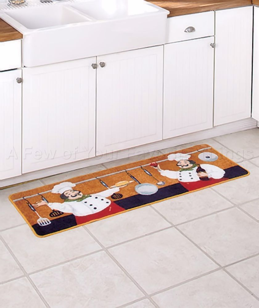 Kitchen Long Rug Bon Appetit Bistro Chubby Fat Chef Home