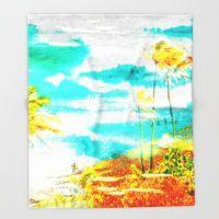 Throw Blanket featuring Hanauma Bay I by The Digital Weaver