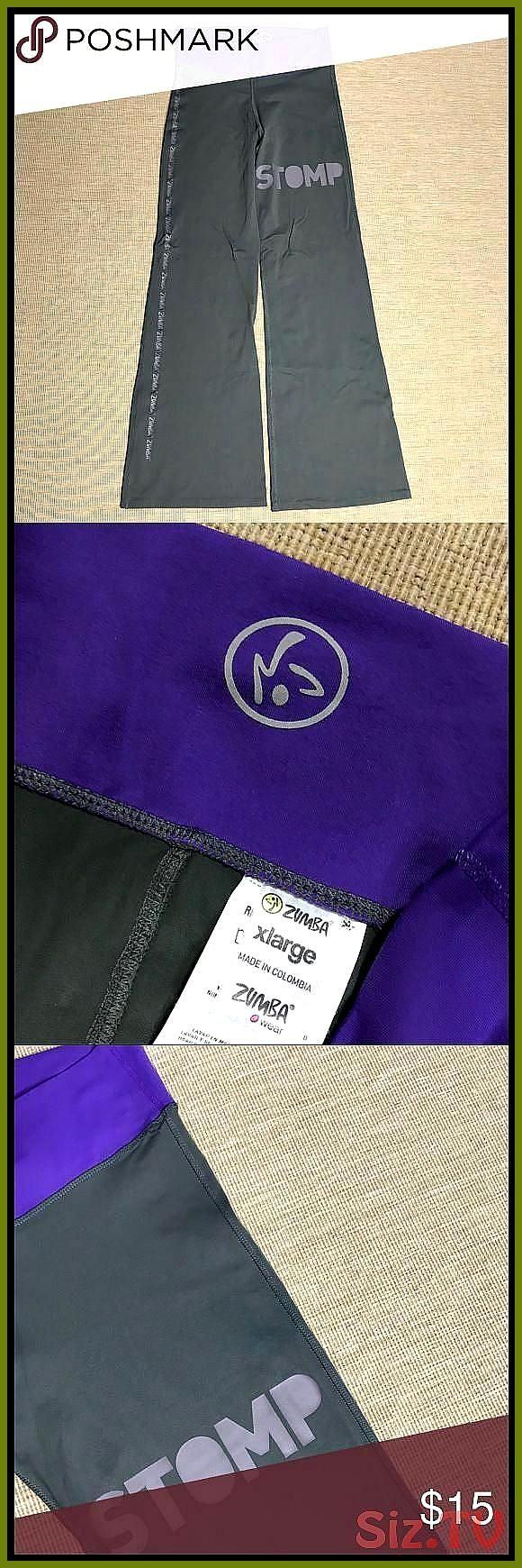 Women 39 s Zumba Yoga Pants Slate Grey Purple Logo XL Women 39 s Zumba Yoga Fitness Pants Slate Grey...
