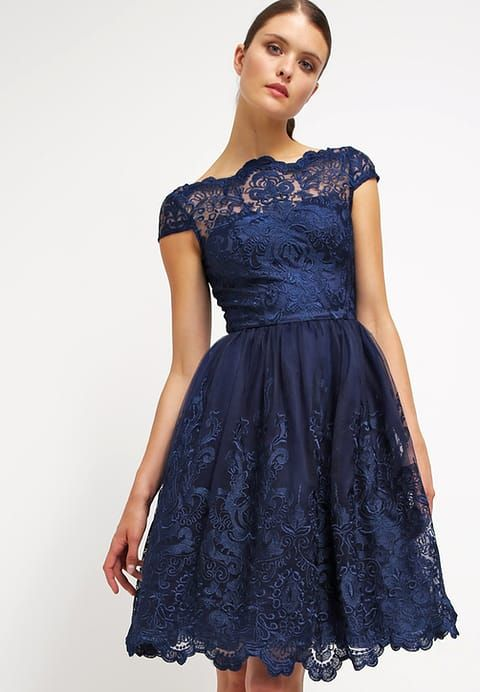 APRIL - Sukienka koktajlowa - navy | Chi chi, Wedding guest dresses ...
