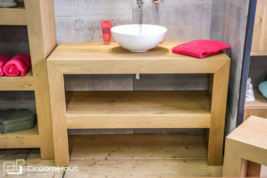 Aanbieding design eiken badkamerset direct leverbaar op op