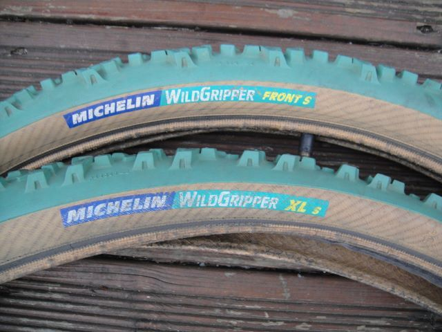 Michelin Wild Gripper Green Tyres Retro Bicycle Image Bicycle