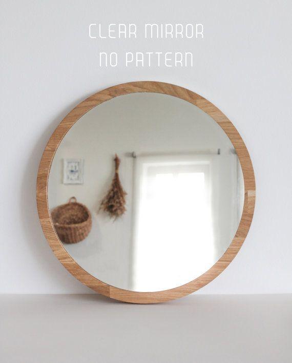 Clear Mirror Large Round Mirror No Pattern