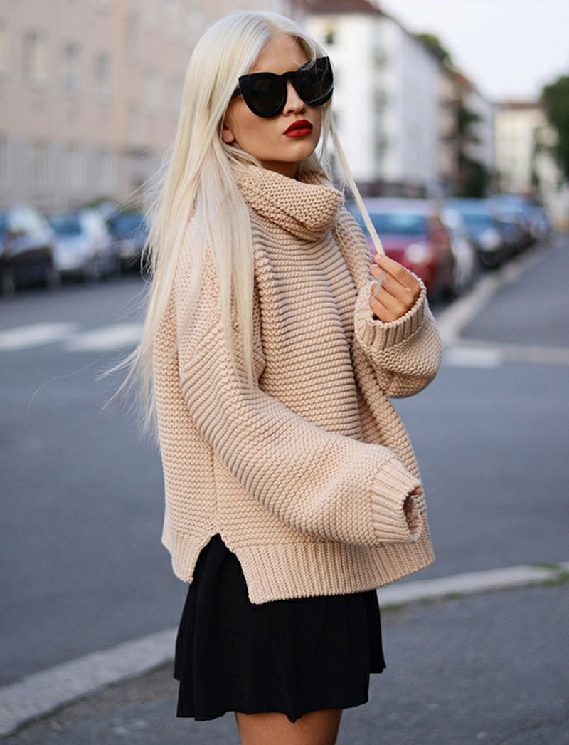 new style f9f01 46c86 So kann man einen schicken Longpullover tragen - 60 Outfits ...