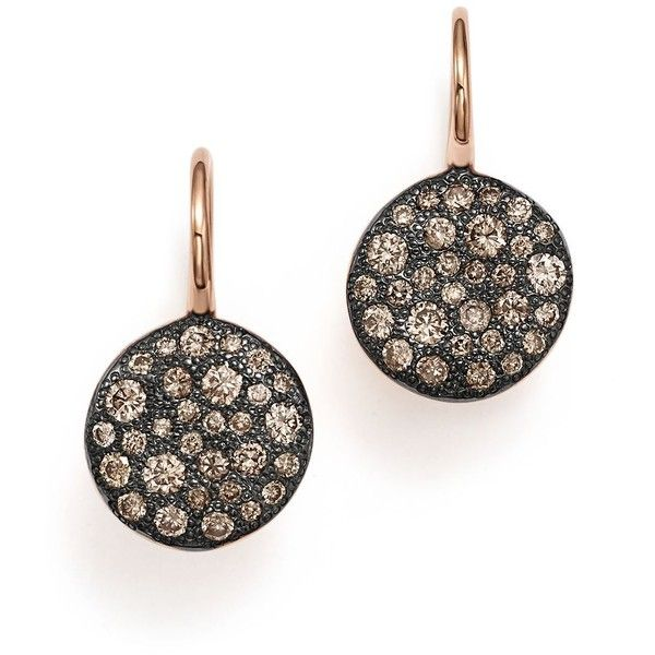 Pomellato Sabbia Burnished 18K Rose Gold Earring with Brown