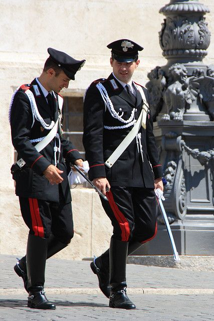 Carabinieri In Alta Uniforme Roma Men In Uniform