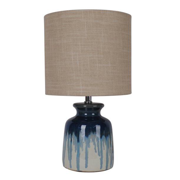 Better Homes Gardens Ceramic Ombre Drip Table Lamp Blue Walmart Com Blue Ceramic Lamp Lamp Table Lamp