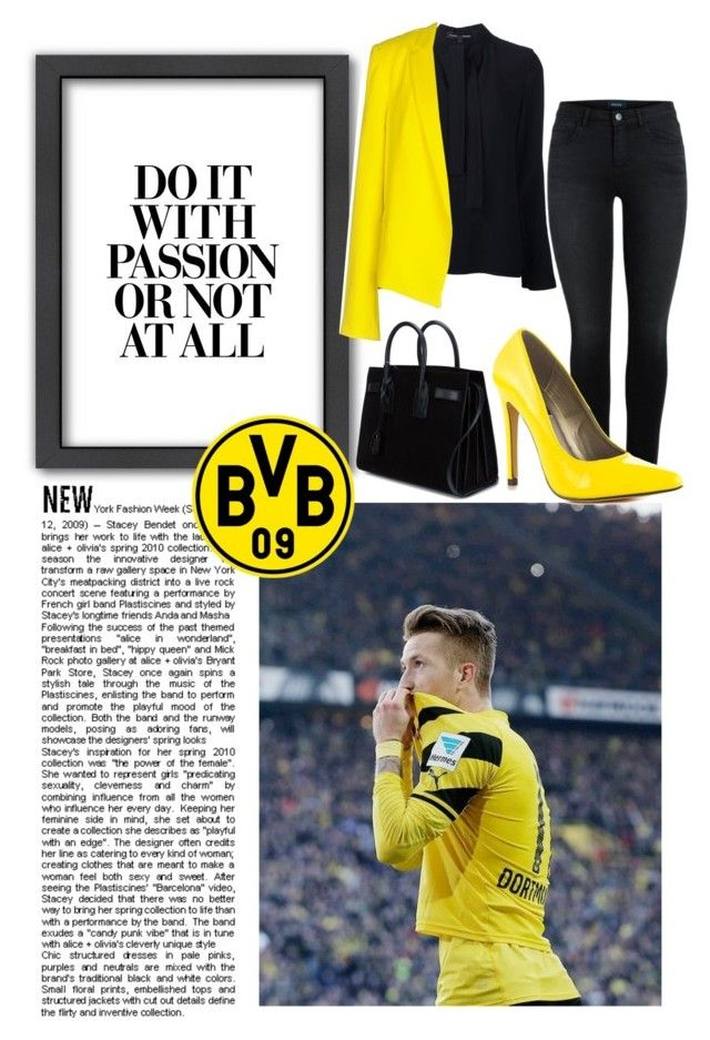 """Marco Reus"" by rocklikeachampion ❤ liked on Polyvore featuring Americanflat, Proenza Schouler, Tara Jarmon, Michael Antonio and Yves Saint Laurent"