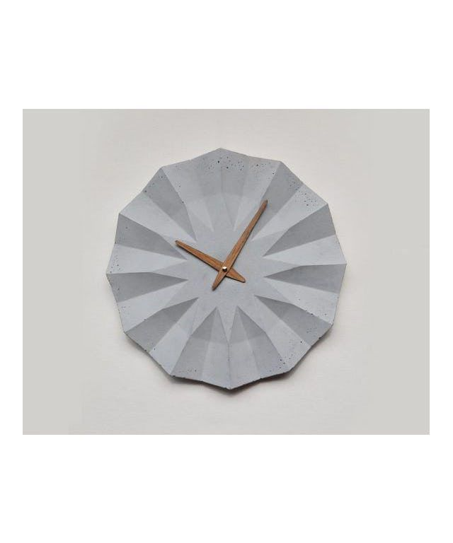 POLYGON concrete wall clock designed by MOHA design made in Hungary ...